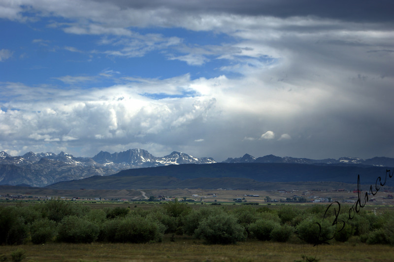 Photo By Bob Bodnar...................................Grand Tetons from a distance