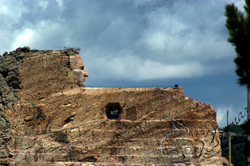 Photo By Bob Bodnar...........................................Crazy Horse Monument in the works