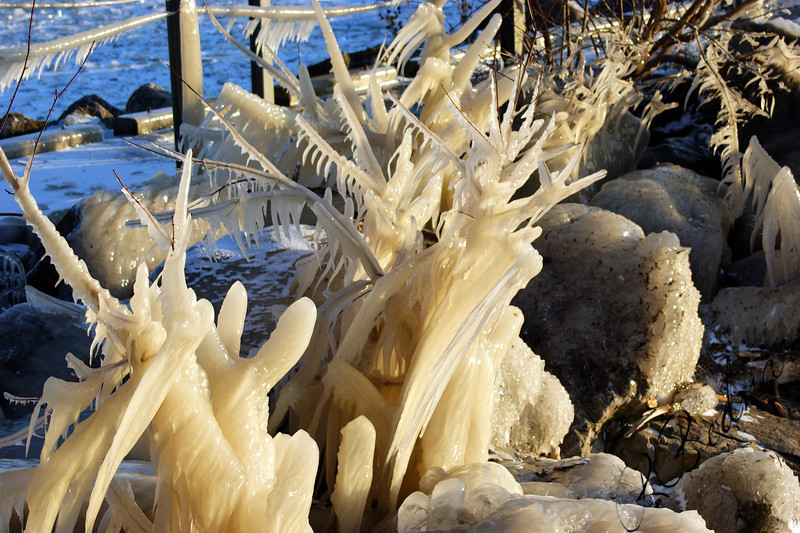 Photo By Robert Bodnar........................Ice Sculpture at Mile Long Pier in Lorain Ohio