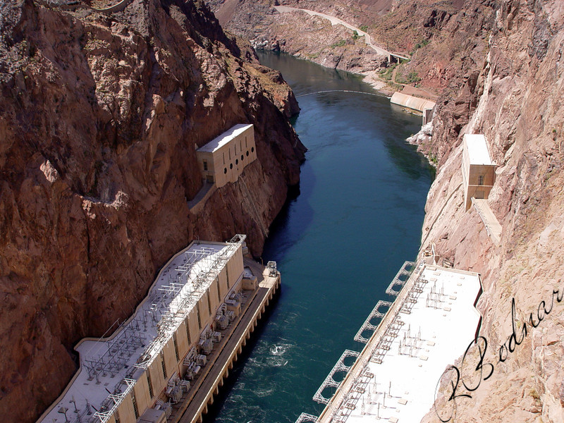 Photo By Robert Bodnar...........................View from top of Hoover Dam