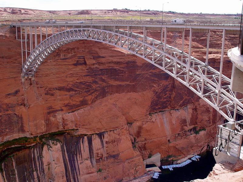 Photo By Robert Bodnar............................................Bridge at Glen Canyon Dam