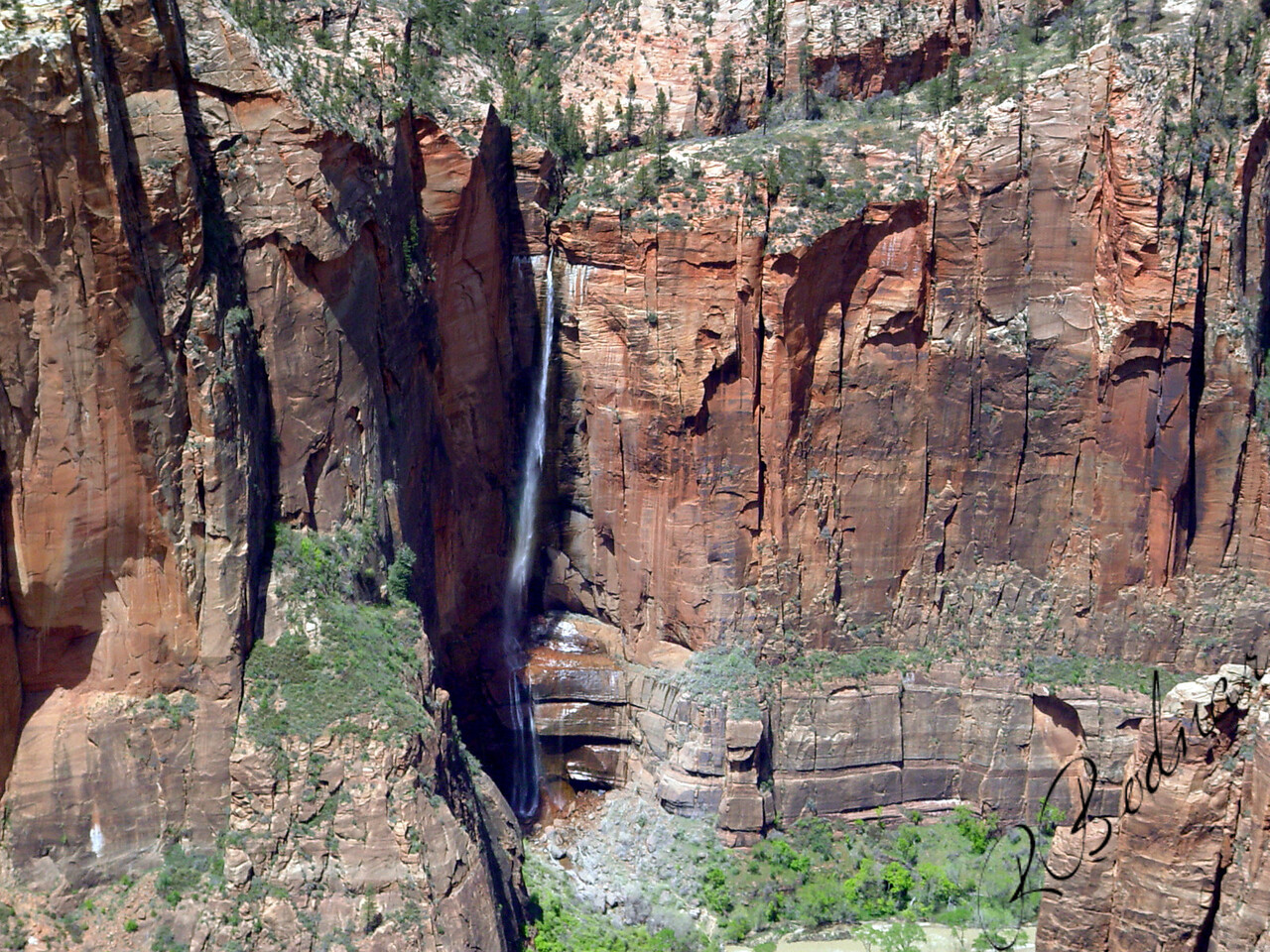 Photo By Robert Bodnar.........................Zion National Park WaterFall