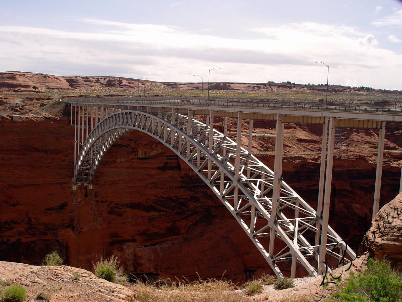 Photo By Robert Bodnar...............................................Bridge at Glen Canyon Dam