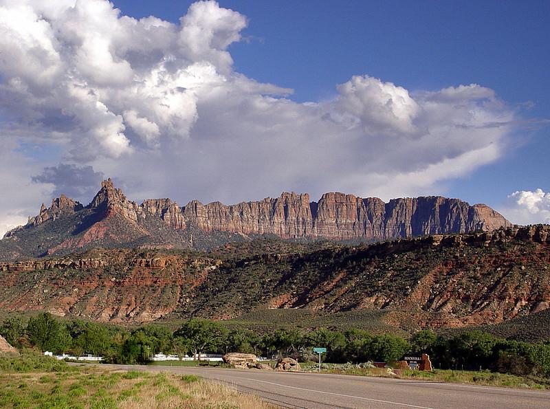 Photo By R Bodnar------Landscape at the  Entrance of Zion National Park