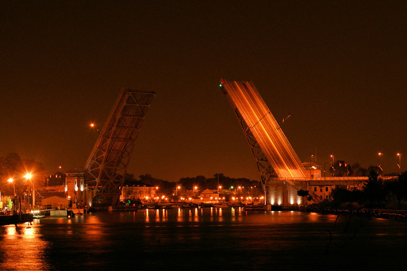 Photo By Robert Bodnar.........................Lorain's Charles Berry Bascule Bridge
