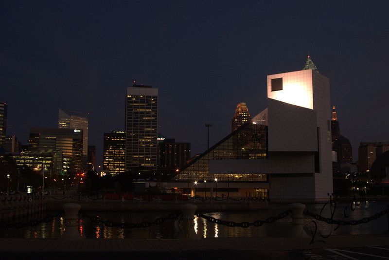 Photo by Robert Bodnar...................Cleveland's Rock & Roll Hall of Fame at Night
