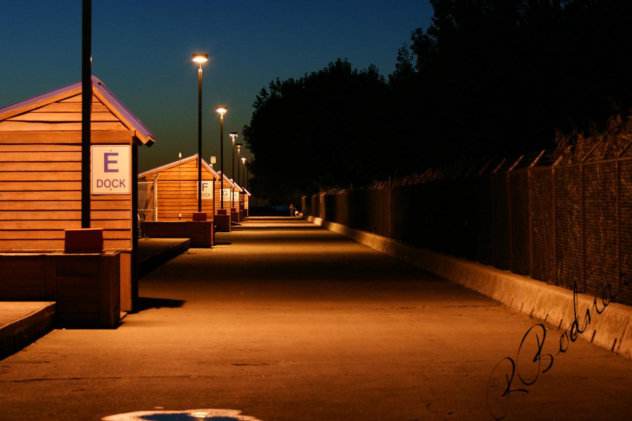 Photo By Robert Bodnar..................Lorain's Mile Long Pier at Night