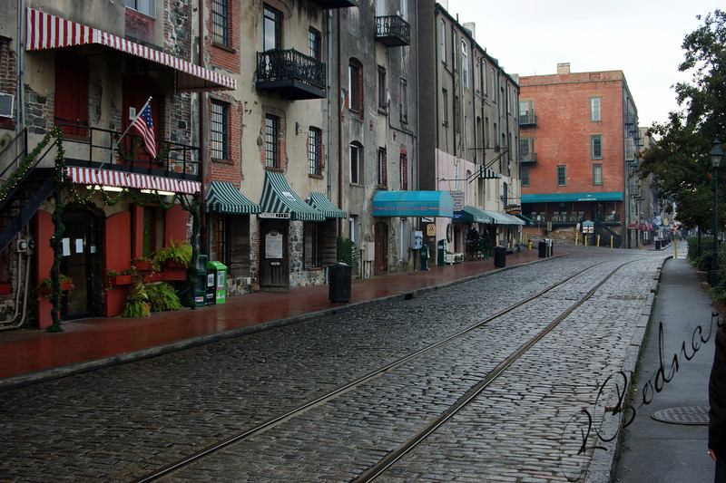 Photo by Robert Bodnar.......................River Street,  Savannah GA   (Early Morning)