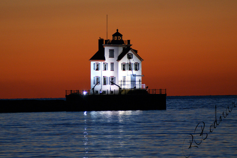 Photo By Robert Bodnar.........................Lorain Lighthouse at Night..............1st. Place for Landmark, Lorain County Fair 2009