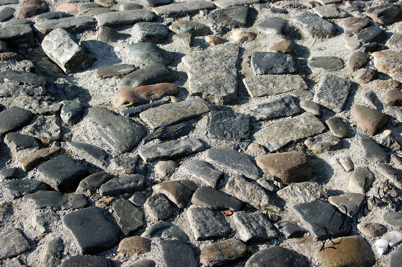 Photo By Robert Bodnar........................Cobblestone on River Street, Savannah GA.