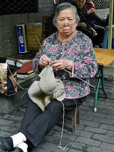 Old Woman in Chengdu