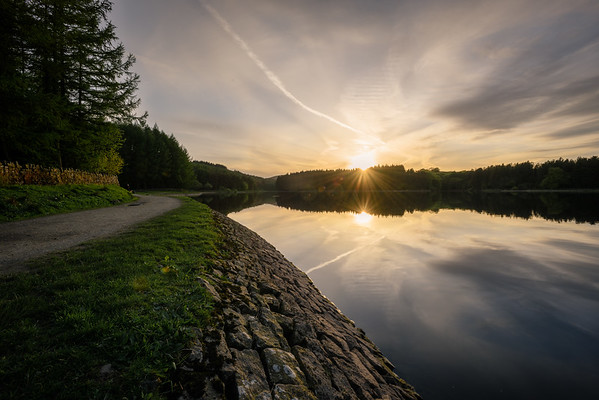 Sunset at Entwistle Reservoir 10.05.2018