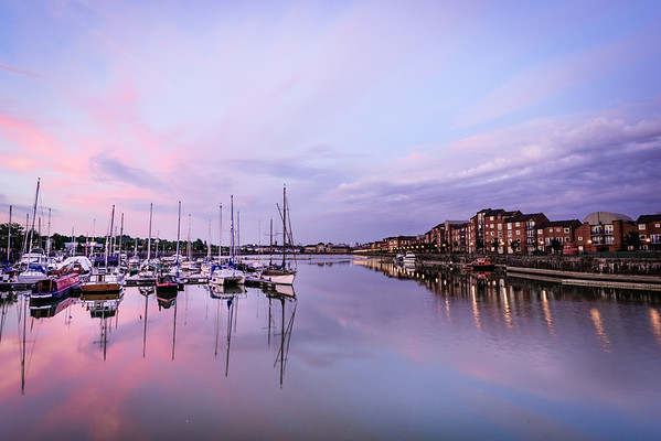 Preston Docks at Dusk
