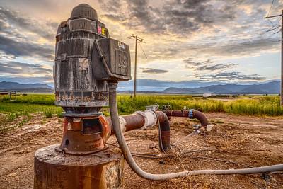 Water Pump on Grandparent's Farm
