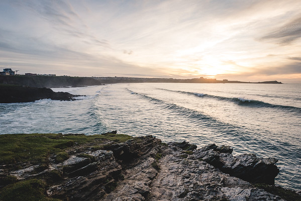 Newquay at Sunset