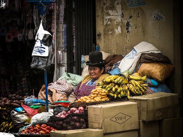 Bolivian Peasant....La Paz, Bolivia