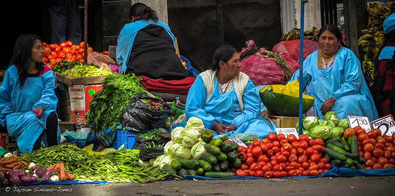 Street Veggie Market....La Paz, Bolivia