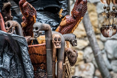 Wood carvings outside the Nassau Straw Market