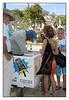 The most popular man on that day with an 80F degree temperature is this ice cream man.