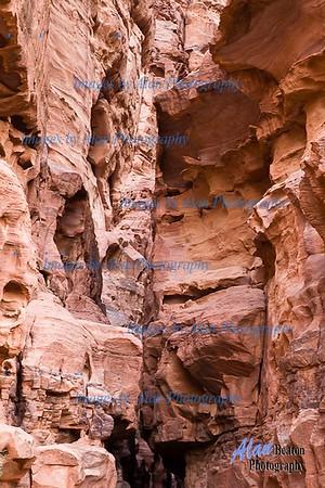 Canyons at Wadi Rum