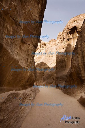 Approaching the Siq, Petra