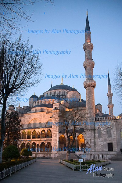 Morning light at the Blue Mosque,, Istanbul