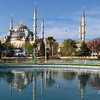 Reflecting pool at the Blue Mosque, Istanbul