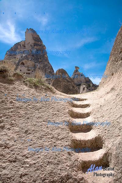 A steep climb, Cappadocia