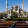 Prayer benches at the Blue Mosque, Istanbul