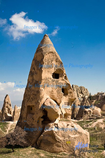 The terrain of Cappadocia
