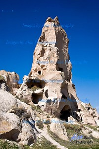 Rising high in Uchisar, Cappadocia