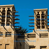 Traditional Windtowers above Souk Madinat Jumeira, Dubai.