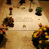 The marble plaque of the remains of Prince Rainier III.
