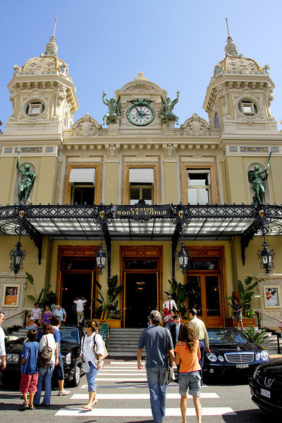 The main entrance to the Monte Carlo Casino complex and the Grand Théâtre de Monte Carlo, an opera and ballet house, and the headquarters of the Ballets de Monte Carlo. The citizens of Monaco are forbidden to enter the Monte Carlo Casino
