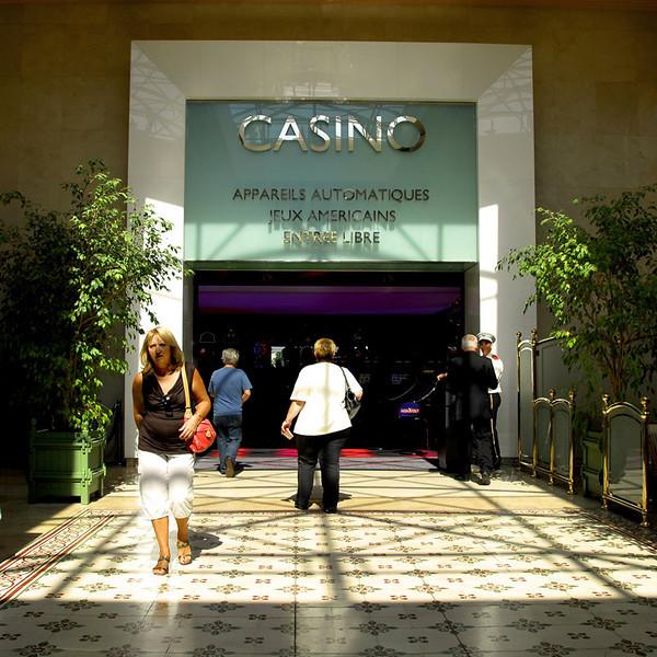 The entrance to the casino inside the Cafe de Paris.