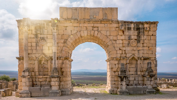 The Triumphal Arch in Volubilis, Morocco.