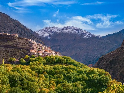 Berber village in the High Atlas mountains in Morocco.