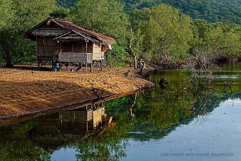 A fisherman's house near Calayo River.