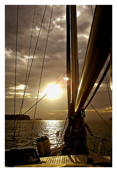 This is prior to sailing out to the Pacific Ocean in my brother in-laws yatch. This is a shot with the sun in front of me.