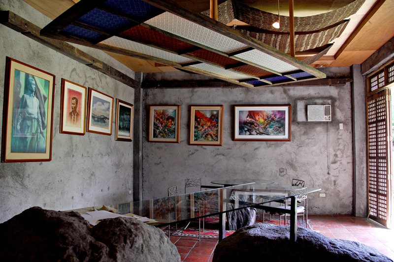 Office and reception at the artist workshop building.