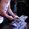 Carlito demonstrating his welding skills.