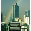 Rainbow over Makati one morning in January 2006.