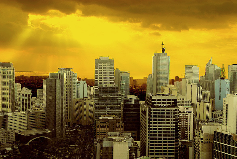 More views of sunset in Makati.