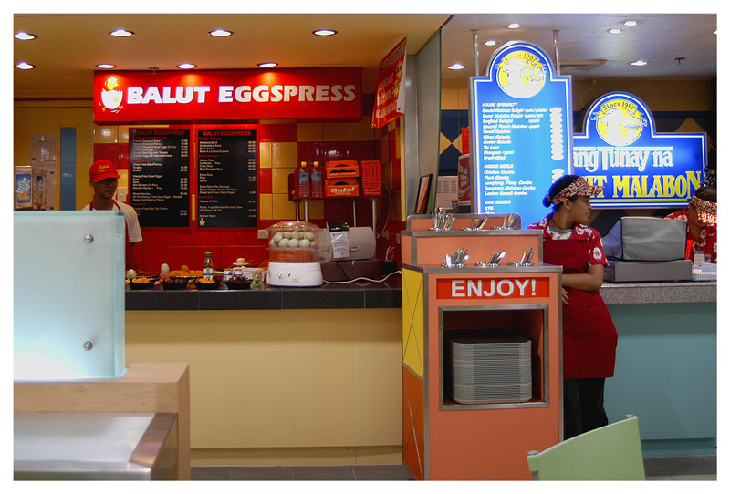 "There is a delicacy infamous in Filipino culture that can put a crippling chill in the spine of grown men almost as quickly as talk of ""aswang"", ghost monster. That delicacy is the notorious balut. Balut is a popular Filipino street snack and is essentially a duck egg with a fetus inside, typically between seventeen to twenty days in gestation. In the Philippines balut is so popular that it is equivalent to what the hot dog is in the U.S. There are balut vendors who push around carts full of fetal treats and bark their wares in a sing-song chant of ""baluuuut, baluuuut!"" Balut is also a popular aphrodisiac for men. But even with the good vibes and positive spin surrounding balut, the stigma attached to eating it overshadows all the warm and fuzzy aspects of this very Deep End Dining dish. <br /> <br /> But there is nothing sensual per se about balut; it is, after all, an aborted duck fetus. As opposed to, say, eating an ordinary chicken egg with yolk and all, the balut is already fertilized and ready to go, as it were, with an actual, healthy, living duck embryo (incubated up to 18 days in a hatchery). And this where, of course, the balut gets its notoriety: the duck really looks like a duck, eyes, pink little limbs, gray feathers, useless beak and all.<br /> <br /> Duck embryo in the shell,<br /> I pluck you out of the shell; --<br /> Hold you here, beak and all, in my hand,<br /> Put all of it in my mouth.<br /> <br /> Descriptions were taken from <a href=""http://www.thewilyfilipino.com/blog/archives/000076.html"">http://www.thewilyfilipino.com/blog/archives/000076.html</a> and <a href=""http://deependdining.blogspot.com/2005/09/balut-egg-of-darkness-pinoy-pinay.html"">http://deependdining.blogspot.com/2005/09/balut-egg-of-darkness-pinoy-pinay.html</a>."