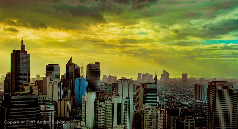 Another view of sunset in Makati.