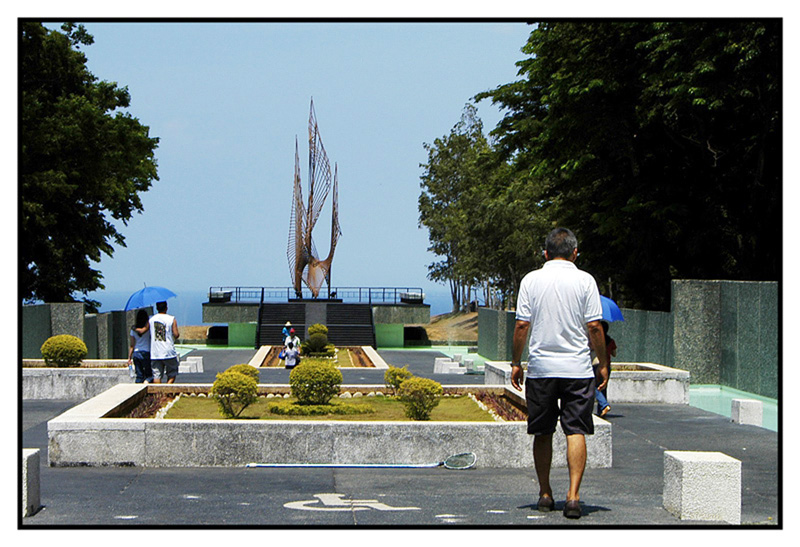 """<FONT size=""""-1"""">The """"Eternal Flame"""" the symbol of peace was erected when the Philippine Government declared the Island of Corregidor as a National Park."""