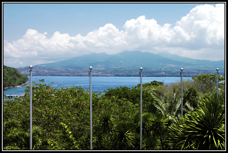 "<FONT size=""-1"">A view of Battan Province from the hotel in Corregidor."