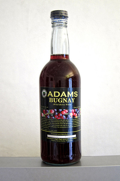 Bugnay is an Ilocano red wine made from wild raspberries. It is more a dessert wine because it is on the sweet side, but it packs a punch!