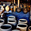 """These are jars that just got out of the kiln or """"Pugon""""."""