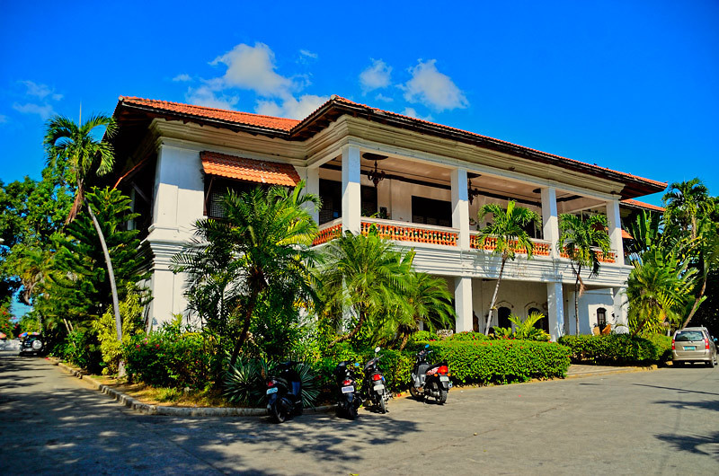 This photo is the home of former President Ferdinand Marcos. This faces the east side and Batac River.